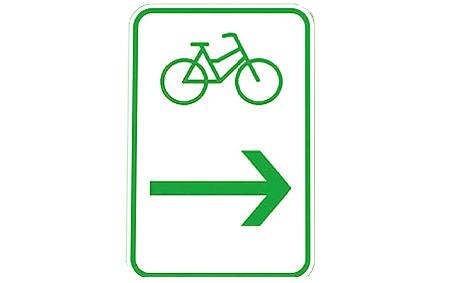[Translate to Niederländisch:] Radwegebeschilderung Zwischenwegweiser